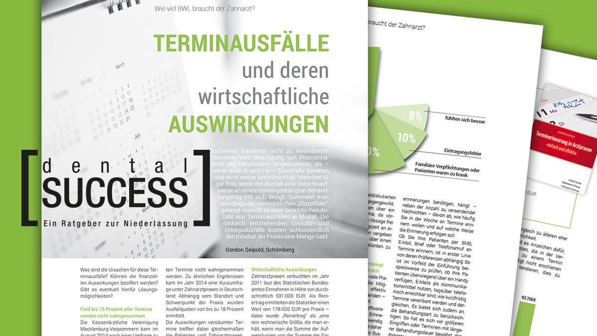 Veröffentlichung in dentalSUCCESS: Terminausfälle und deren wirtschaftliche Auswirkungen